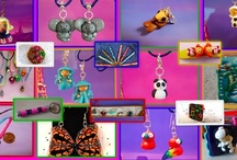 My Work - Colorful Art and Creations / My work in Polymer clay. Art Piece, Clocks, Pens, Wearable Art...by IsabelleClayArt - Tchoupuce