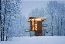 Snowy Scenes / Modern architecture in the snow!