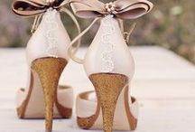 Heels, Wedges, and Ballet Flats / Get inspiration and ideas for what wedding shoes would be perfect for your big day! #Weddings