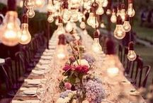 Wedding Reception Inspiration / Ideas for getting the complete look at the wedding venue!