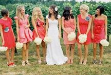 Bridesmaid Central / Ideas and inspiration for the bridesmaids' complete look! #Fashion #Weddings #Bridesmaid