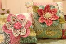 fabric flowers / by Mary Lynn Montague Plant