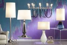 Lighting / Add some contemporary accents to your home with table lamps, floor lamps, and chandeliers that feature clean lines and geometric designs. / by 55 DOWNING STREET