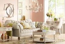 Romantic Pink Decor / Pink hued furniture, lighting, and home decor is a lovely way to bring a little romance home. / by 55 DOWNING STREET