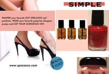 """SOY SPACASSO Organic Soy Nail Lacquer / The """"SPACASSOLICIOUS"""" organic soy nail lacquers are created """"3-Free"""" - they do not contain the Toxic Trio of chemicals: Toluene, Formaldehyde and dibutyl phthalate which can be removed with fingernail polish remover of choice and there is absolutely no animal testing.   As expected from everything in the SOY SPACASSO product line, the organic soy formula provides moisturizing and nourishment with Vitamins A and E, thus helping to eliminate breakage and keeps the nail from drying out."""