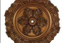 Ceiling Medallions / Ceiling medallions are a great way to accent the ceiling light fixtures in your home. Subtle and sometimes necessary, ceiling medallions dress up your rooms like cuff links dress up a great looking suit. From simple or extravagant, our selection of ceiling medallions includes the style you're looking for to complement your home.  http://www.vistastores.com/ceiling-medallions / by Vista Stores