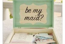 """Asking Your Bridesmaids / Here you will find some creative ways to """"pop the question"""" to your bridesmaids. #Weddings"""