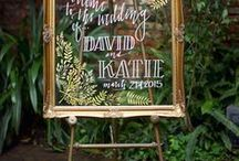 Wedding | Signage / Sign inspiration found- Pretty typography should never be overlooked //// more awesome tip found at www.modernweddingshawaii.com