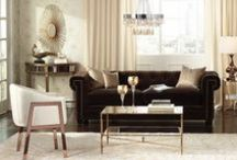 Luxe Looks / From glam mirrored furniture to sparkling chandeliers, we love the Luxe Look in home decor. / by 55 DOWNING STREET