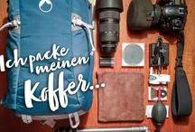 Packtipps für den Urlaub / Was solltest du unbedingt mitnehmen, was kann ruhig zu Hause bleiben? Checklisten, Packtechniken und Gadgets für mehr Ordnung im Koffer.