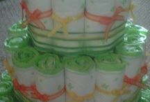 diaper cake / diaper cakes I have done and some I would like to do! / by Shelly Taylor