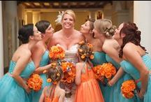 Orange Wedding Story / Incorporating orange into your wedding helps bring soft and autumn tones.  https://www.appycouple.com/signup?q=signup&color=orange / by Appy Couple