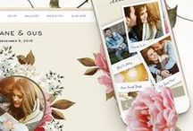 Wedding Website and App / Gorgeous wedding website and app designs, limited-edition collaborations, handcrafted graphics. All the features you need to organize your wedding. Photo sharing, RSVPs, travel info, registries and more - all in one place.  appycouple.com / by Appy Couple