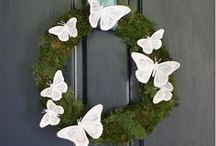 Wreaths / Decorate your front door with a wreath, or hang it on a boring wall inside.