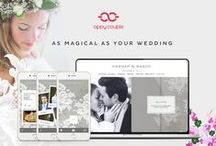 Luxury Wedding Websites / The Appy Couple Luxury collection: Featuring designs by Carolina Herrera and Ceci New York. These collaborations bring you the most beautiful all-in-one wedding app and website designs.  http://www.appycouple.com/collections/luxury / by Appy Couple