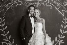 Chalkboard Wedding / A great way to incorporate DIY into your wedding.  https://www.appycouple.com/signup?color= / by Appy Couple