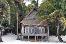 Jungalow / Beach hut, jungle bungalow. Where I'd rather be.