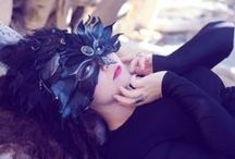 """Late Shift Masquerade / """"A graveyard charade, a late shift masquerade...""""  a few of my costume pieces"""
