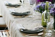 table settings / ideas for photo shoot of new collections - looking at camera angles, use of props, styling...