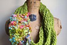 Crochet / Knit Scarf / Cowl Inspiration / by Beth Holmes