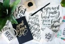 THE ART OF | hand lettering / the art of a handwritten note