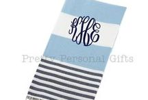 Beach & Pool / Turkish Towels (peshtemals) make the perfect beach towel. Monogrammed of course! Great for a hot yoga class, trip to the beach or pool, day at the spa...