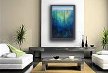 Carol's Art On the Wall / Ever wondered what my paintings might look like in a home or office setting? Here are several examples.