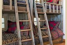The Bunk House / A cabin filled with plaids, animal hyde rugs, soft throws, gormet coffee & a cozy stone fireplace...