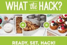 #WhatTheHack!? / Roll up your sleeves & stir up your creativity. Trust us, these 'Food Hacks' will change the way you eat and cook! Share your own clever recipes with #WhatTheHack and we'll add them here!
