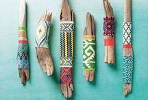 sticks and stones / creating with earthly treasures  + wall hangings