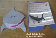 MADE - Shark Attack Birthday Bash / Here are a few fun things I made for my son's 5th Birthday Party.  His theme was Sharks!