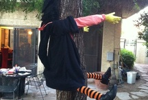 How to make a Crashed Witch! / One of the most fun things to do is building a crashed witch out of stuff you have around the house. If you do need to buy things for it - everything can be found in thrift stores. We built ours with most purchases at Goodwill and it cost about $10.00
