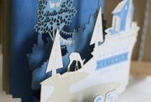 3D Pop up invitation / Laser cut 3d pop up invitation folds flat to fit in the envelope