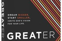 """Greater / Work through our ninth, past#P31OBS (on your own or with friends) on Steven Furtick's book, """"Greater."""" *Dream Bigger. Start Smaller. Ignite God's Vision for Your Life. 
