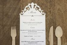 {MENU} / Menu ideas for wedding receptions and events