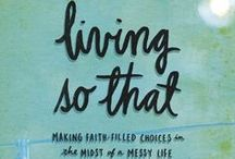 """Living So That / Work through our sixteenth, past #P31OBS (on your own or with friends) on Wendy Blight's book, """"Living So That."""" *Are you searching for new perspective, struggling with practically applying God's Word, longing to live in the fullness of a Spirit-led heart/mind? Gain new perspective to apply biblical truths to your decision-making w/ this study. 