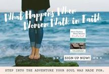 """What Happens When Women Walk In Faith / Work through our twenty-second, past #P31OBS (on your own or with friends) on Lysa TerKeurst's book, """"What Happens When Women Walk In Faith."""" *What if the next big step God wants you to take is actually small? No matter what God has called you to, you can take this first step. 
