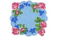 Vintage Handkerchiefs / Charming collectible hankies & DIY projects