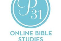 Our Past Studies You Can Do / Did you know you can work through any of our past studies anytime? That's right, ALL of our P31 Online Bible Studies are archived on our blog! You can do them on your own or with a group of friends!! The link in each pin will take you to that study on our blog.