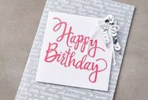 Stampin' Up! Stylized Birthday 2016 / Stampin' Up! Rubber Stamps:  * Have deeply etched images so you get a superior stamped impression each time.  * Are precut so you don't have to trim. * Come with farmed-maple wood blocks—you don't need to buy blocks separately. * Permanently mount on the blocks so they're ready to go when you are.  * Come packaged in cases with images on the spine for easy storage and quick reference.