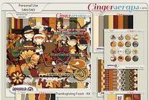 {Thanksgiving Feast} Digital Scrapbook Kit by Aprilisa Designs
