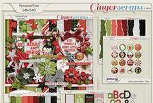 {A Merry December} Digital Scrapbook Collection by Aprilisa Designs