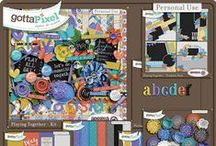 {Playing Together} Digital Scrapbook Collection by Aprilisa Designs