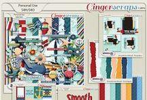 {Smooth Sea Ahead} Digital Scrapbook Collection by Aprilisa Designs