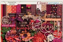 {Summer Flowers} Digital Scrapbook Collection by Aprilisa Designs