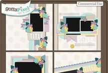 {Picture Perfect 102 and 103} Digital Scrapbooking Templates by Aprilisa Designs