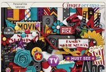 {Movie Nights} Digital Scrapbook Grab Bag by Aprilisa Designs