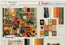 {At The Pumpkin Patch} Digital Scrapbooking Kit by Aprilisa Designs