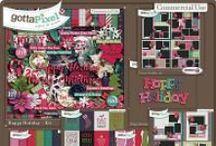 {Happy Holiday} Digital Scrapbook Collection by Aprilisa Designs
