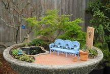 Two green thumbs miniature garden center janit on pinterest for Idea center dilshad garden